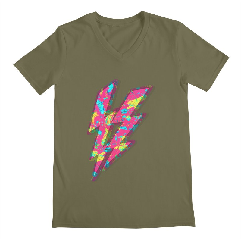 NEON PAINT PINK Men's Regular V-Neck by gasponce
