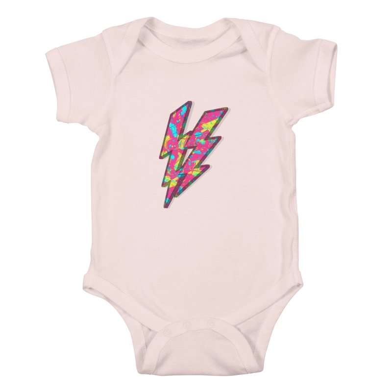 NEON PAINT PINK Kids Baby Bodysuit by gasponce