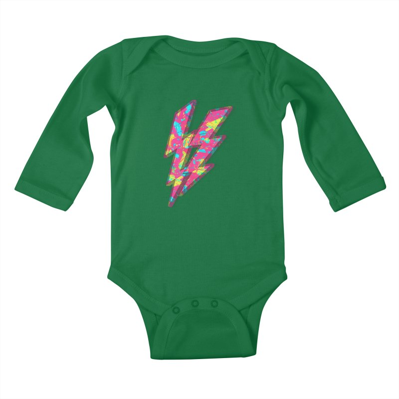 NEON PAINT PINK Kids Baby Longsleeve Bodysuit by gasponce