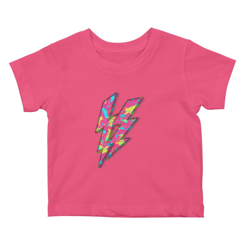 NEON PAINT PINK Kids Baby T-Shirt by gasponce
