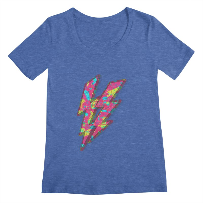 NEON PAINT PINK Women's Scoopneck by gasponce