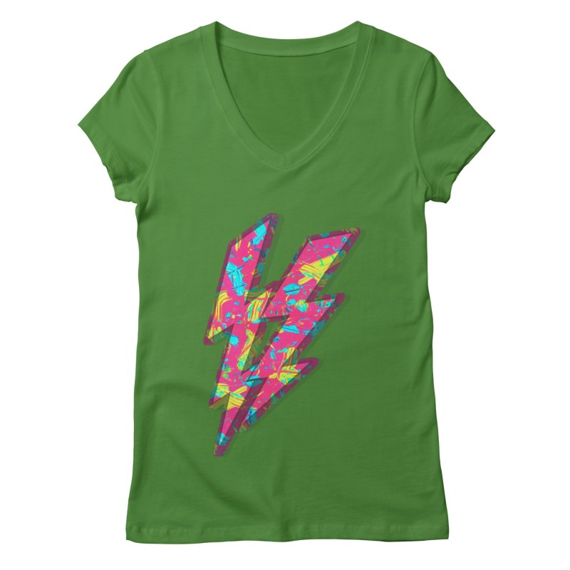 NEON PAINT PINK Women's V-Neck by gasponce
