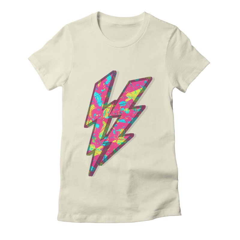 NEON PAINT PINK Women's Fitted T-Shirt by gasponce