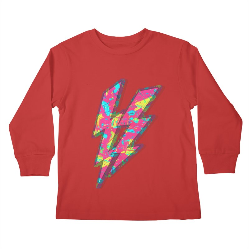 NEON PAINT PINK Kids Longsleeve T-Shirt by gasponce