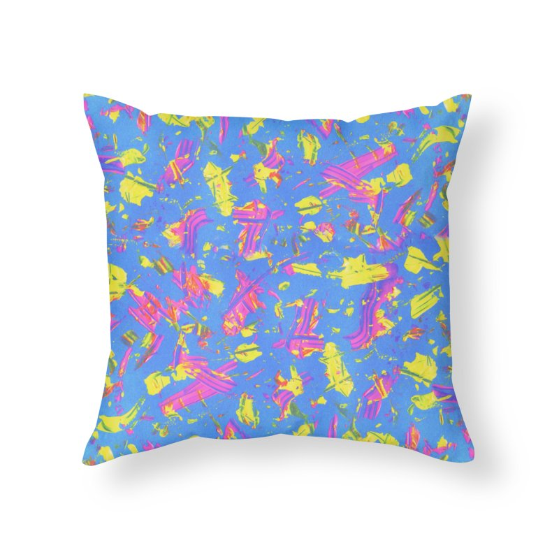 NEON SUMMERTIME! Home Throw Pillow by gasponce