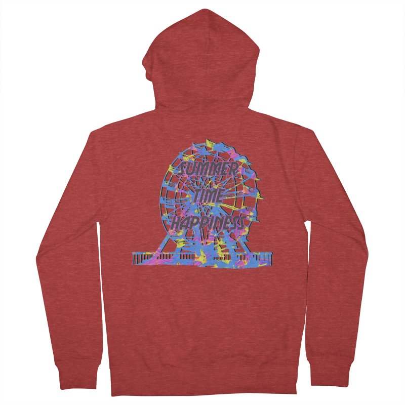 NEON SUMMERTIME! Men's French Terry Zip-Up Hoody by gasponce