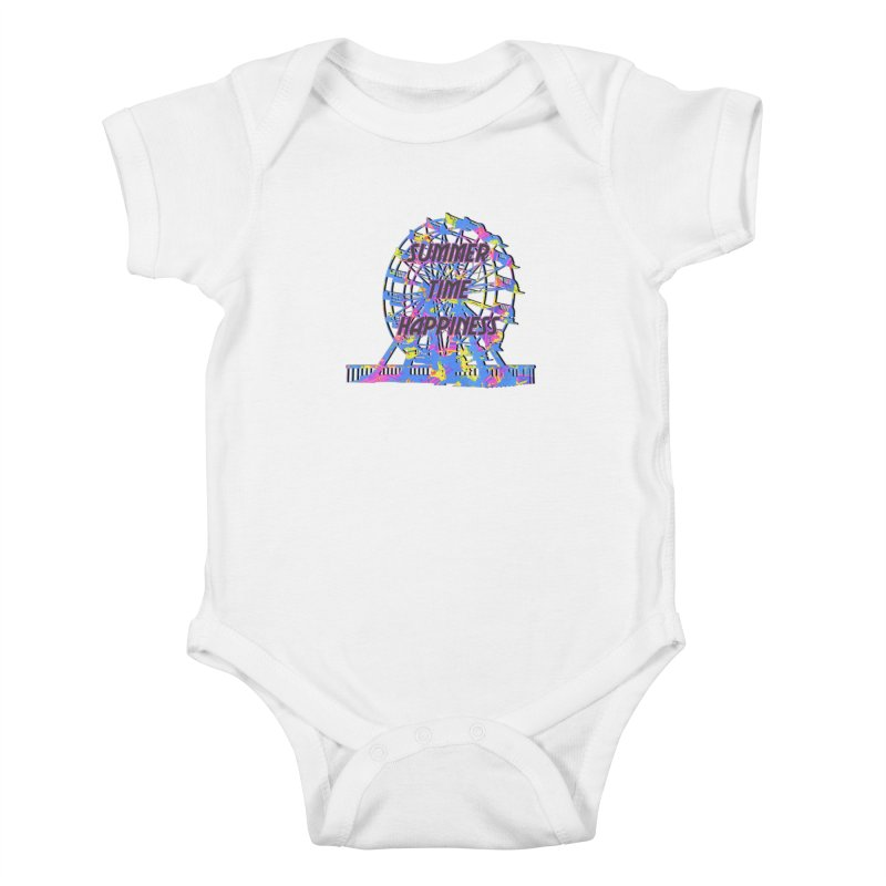 NEON SUMMERTIME! Kids Baby Bodysuit by gasponce