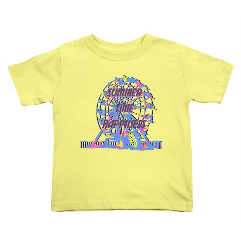 NEON SUMMERTIME! Kids Toddler T-Shirt by gasponce