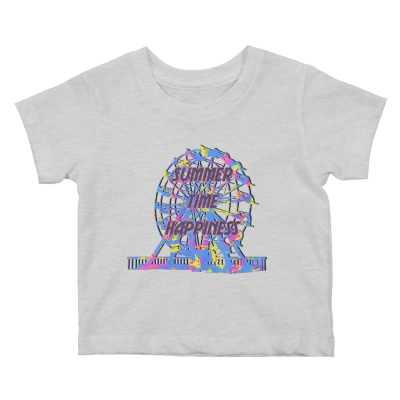 NEON SUMMERTIME! Kids Baby T-Shirt by gasponce