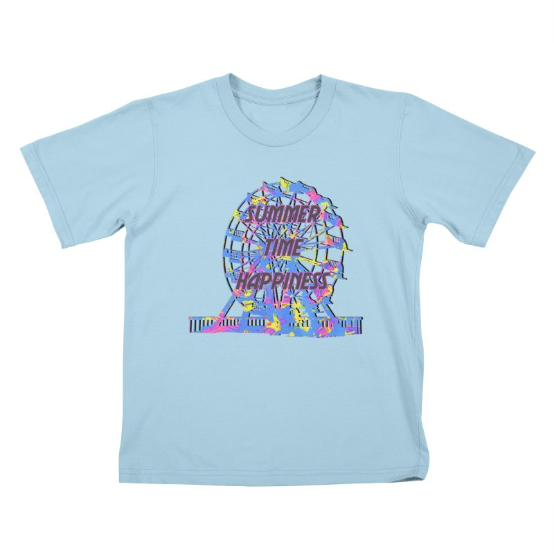 NEON SUMMERTIME! Kids T-Shirt by gasponce