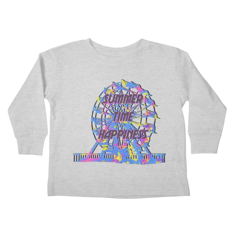 NEON SUMMERTIME! Kids Toddler Longsleeve T-Shirt by gasponce