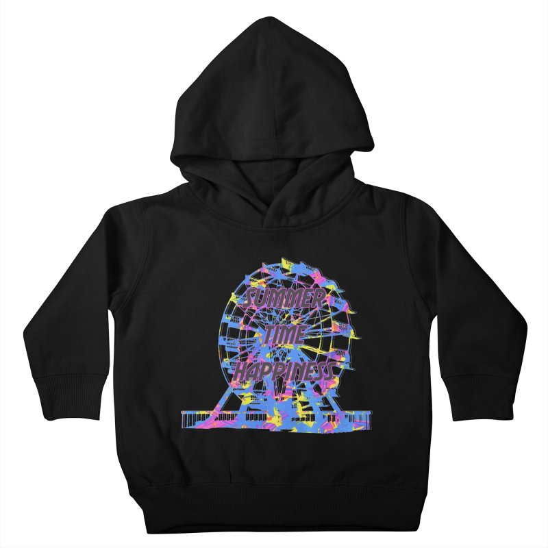 NEON SUMMERTIME! Kids Toddler Pullover Hoody by gasponce