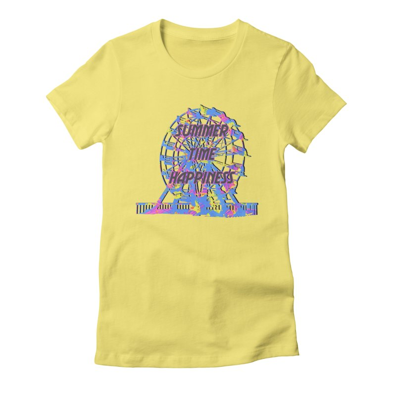NEON SUMMERTIME! Women's Fitted T-Shirt by gasponce
