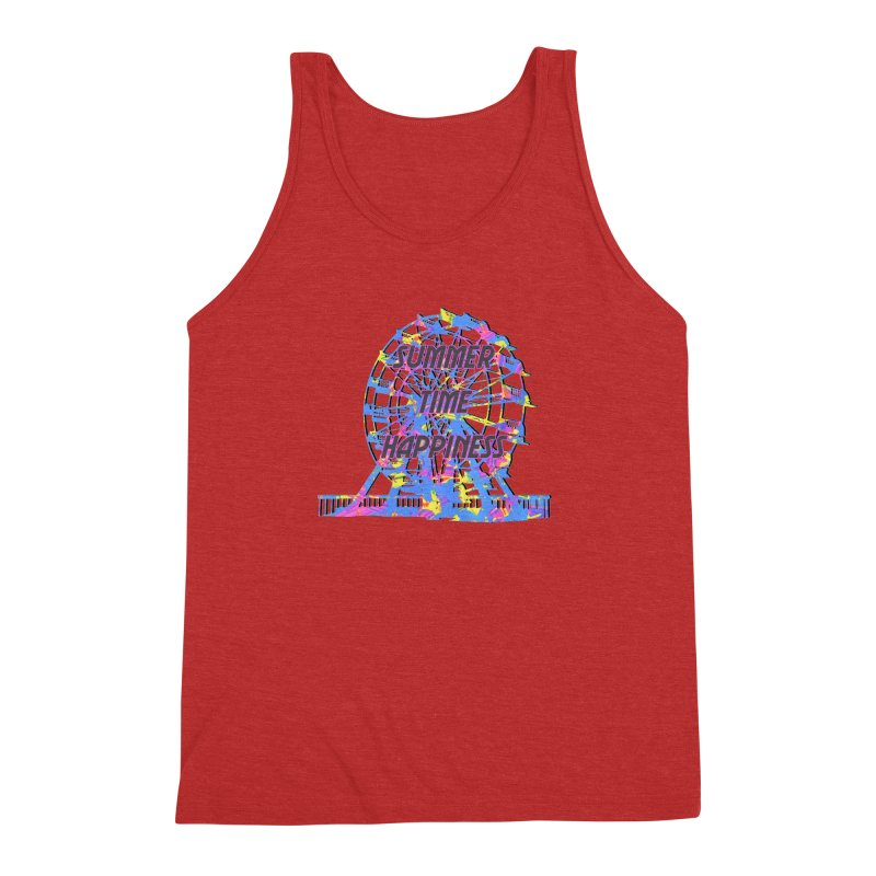 NEON SUMMERTIME! Men's Triblend Tank by gasponce
