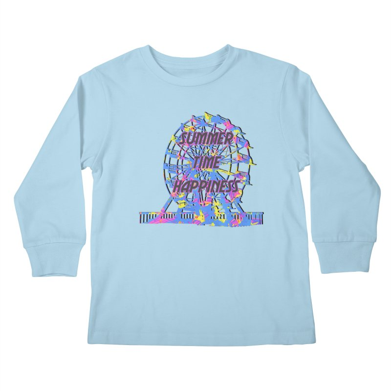 NEON SUMMERTIME! Kids Longsleeve T-Shirt by gasponce