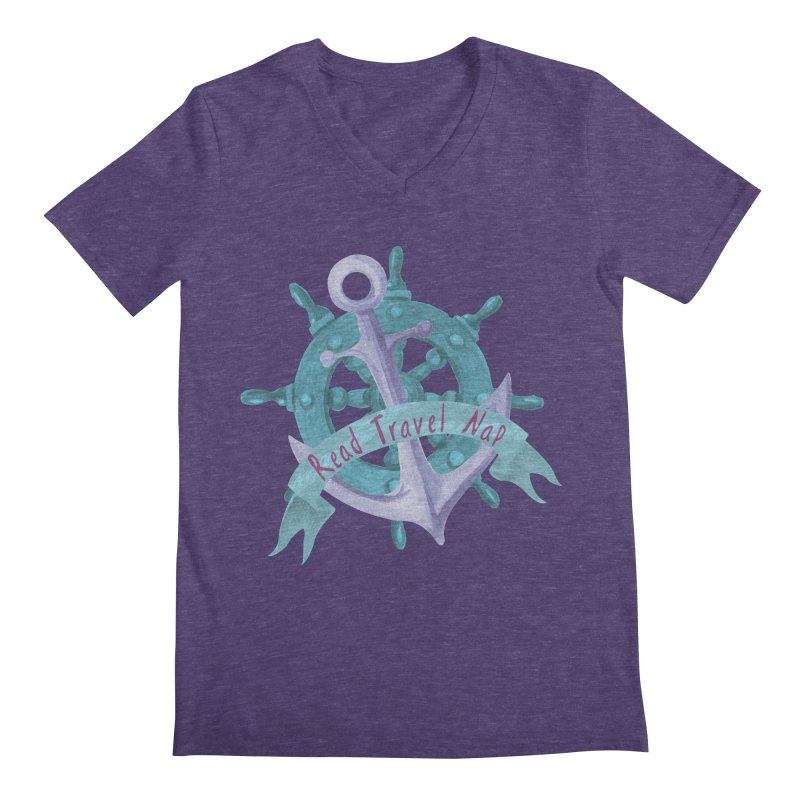 NAUTICAL ADVICE! Men's Regular V-Neck by gasponce