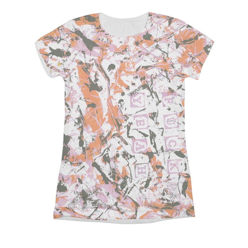 F*ck Yeah! Women's All-Over Print Triblend T-Shirt by gasponce