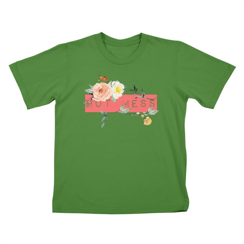 HOT MESS! Kids T-Shirt by gasponce