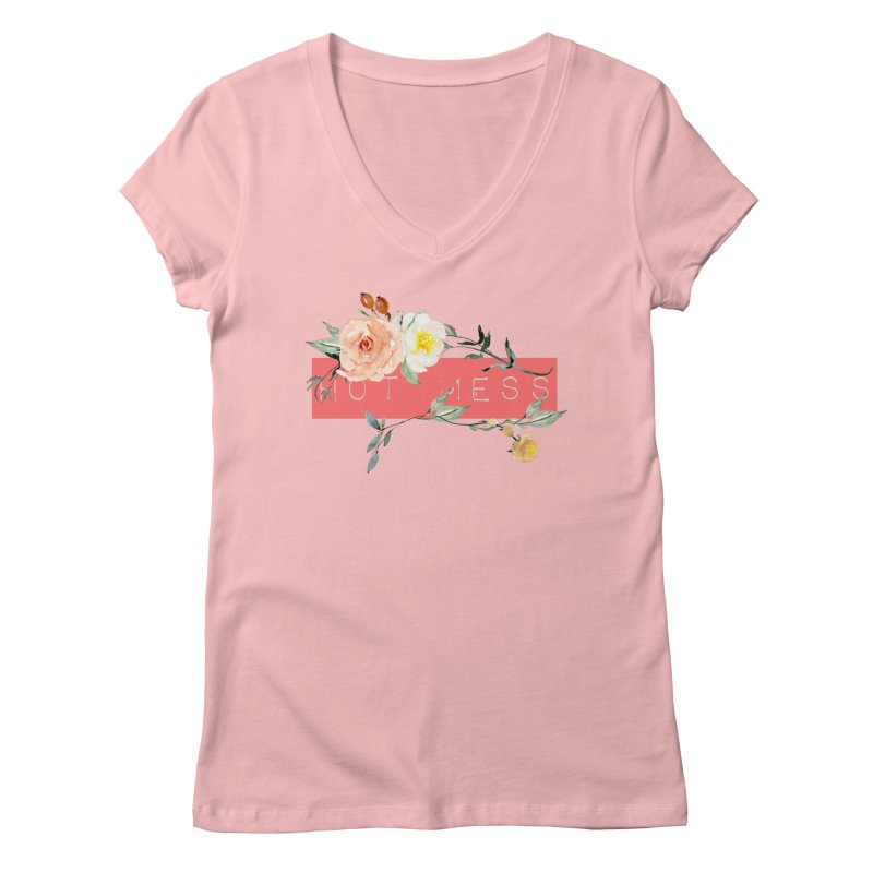 HOT MESS! Women's V-Neck by gasponce