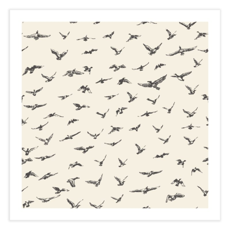 FLOCK OF SCRIBBLES Home Fine Art Print by gasponce