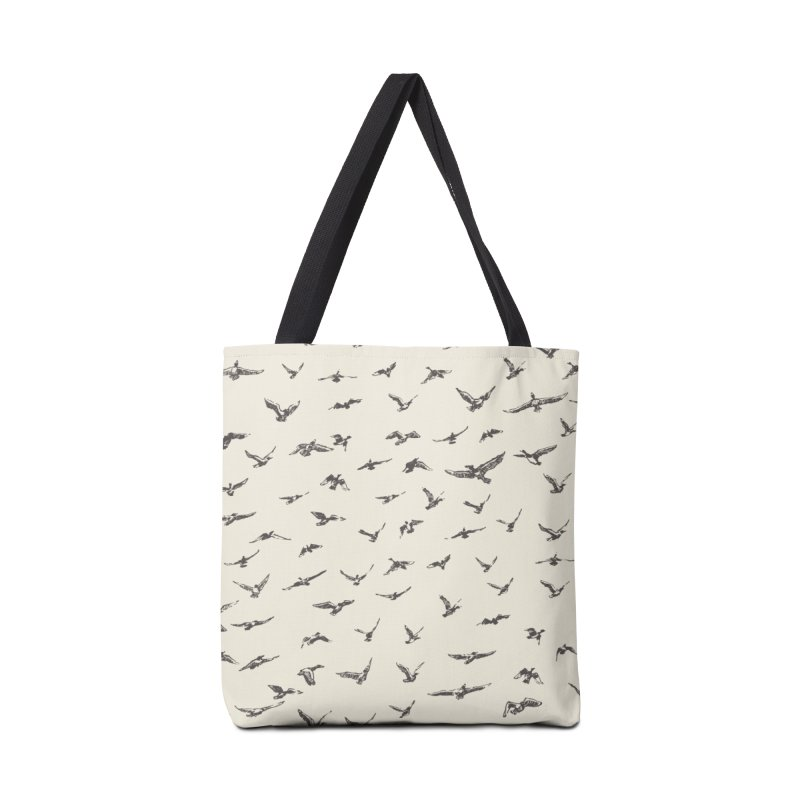 FLOCK OF SCRIBBLES Accessories Bag by gasponce
