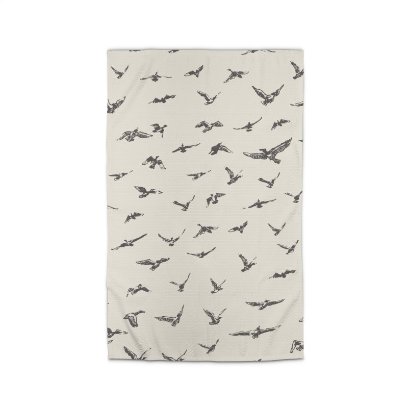 FLOCK OF SCRIBBLES Home Rug by gasponce