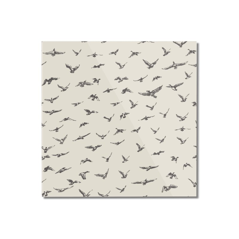 FLOCK OF SCRIBBLES Home Mounted Acrylic Print by gasponce