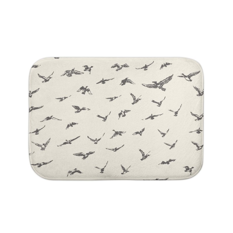 FLOCK OF SCRIBBLES Home Bath Mat by gasponce