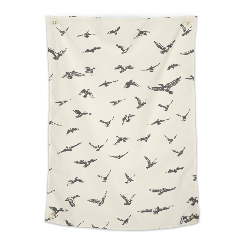 FLOCK OF SCRIBBLES Home Tapestry by gasponce