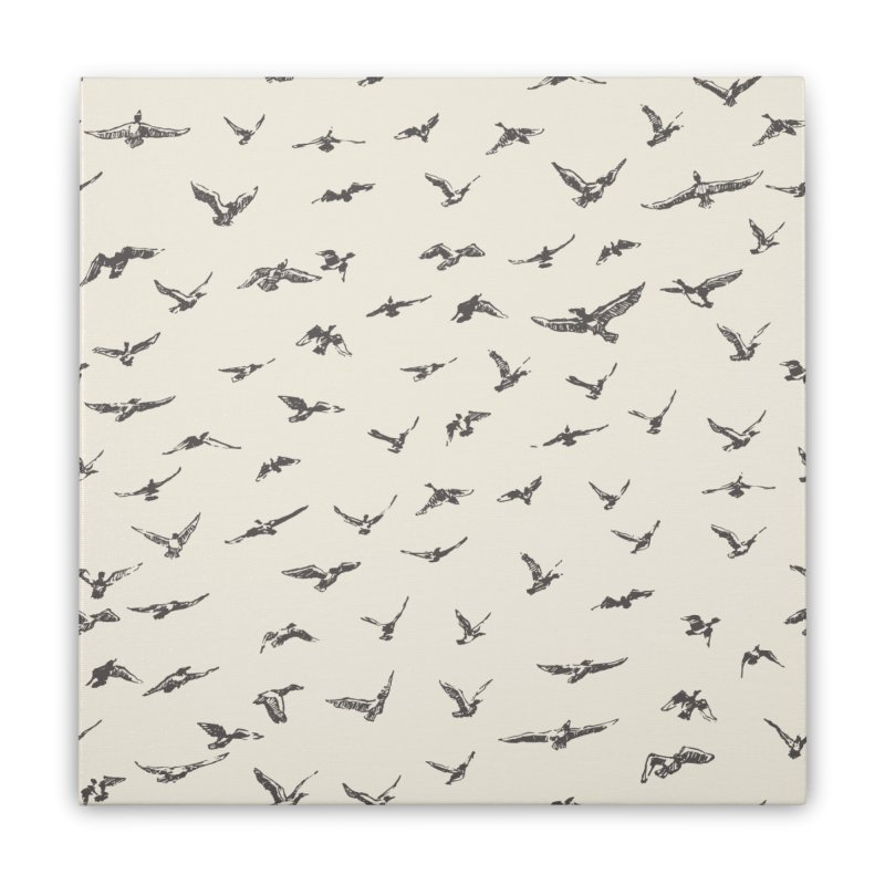 FLOCK OF SCRIBBLES Home Stretched Canvas by gasponce
