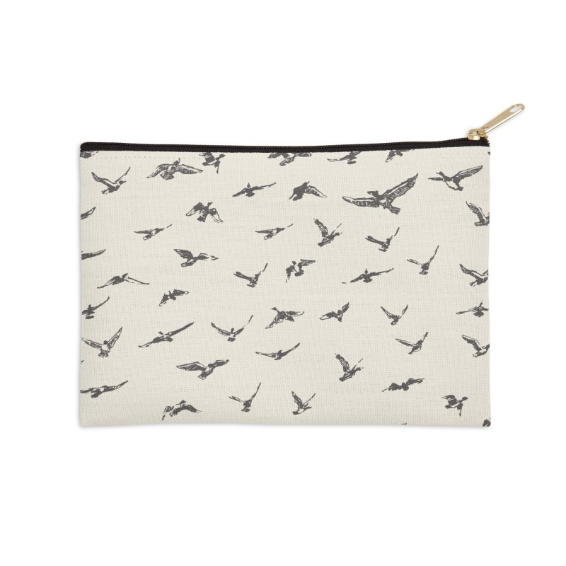 FLOCK OF SCRIBBLES Accessories Zip Pouch by gasponce