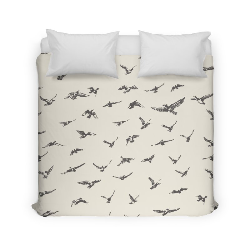 FLOCK OF SCRIBBLES Home Duvet by gasponce
