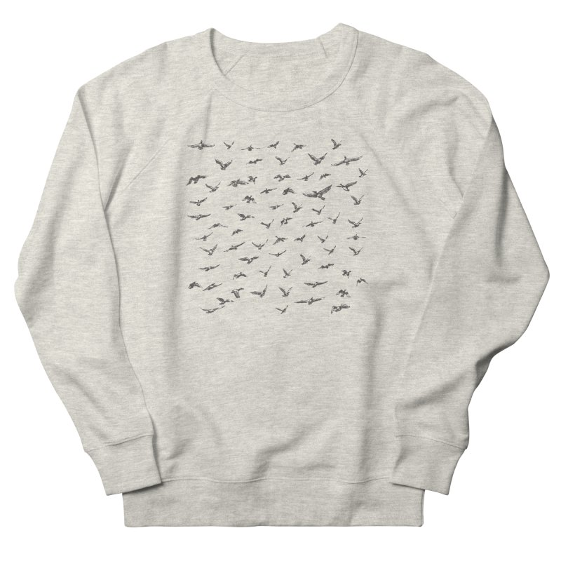 FLOCK OF SCRIBBLES Women's French Terry Sweatshirt by gasponce