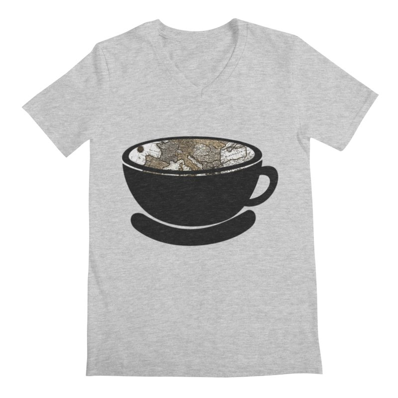 CUP OF WORLD 2 Men's Regular V-Neck by gasponce