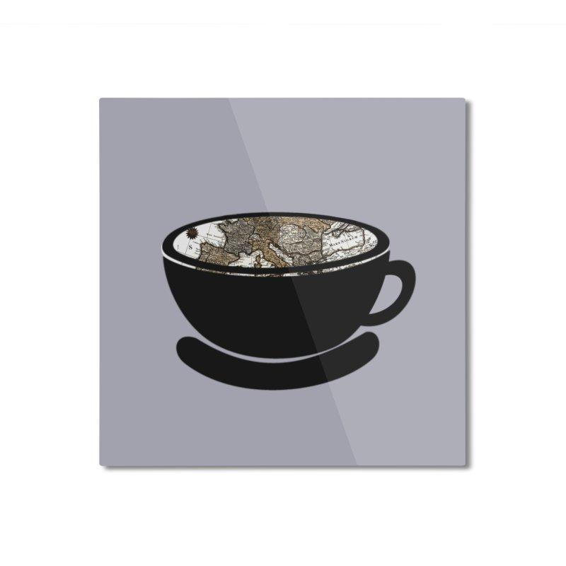 CUP OF WORLD 2 Home Mounted Aluminum Print by gasponce
