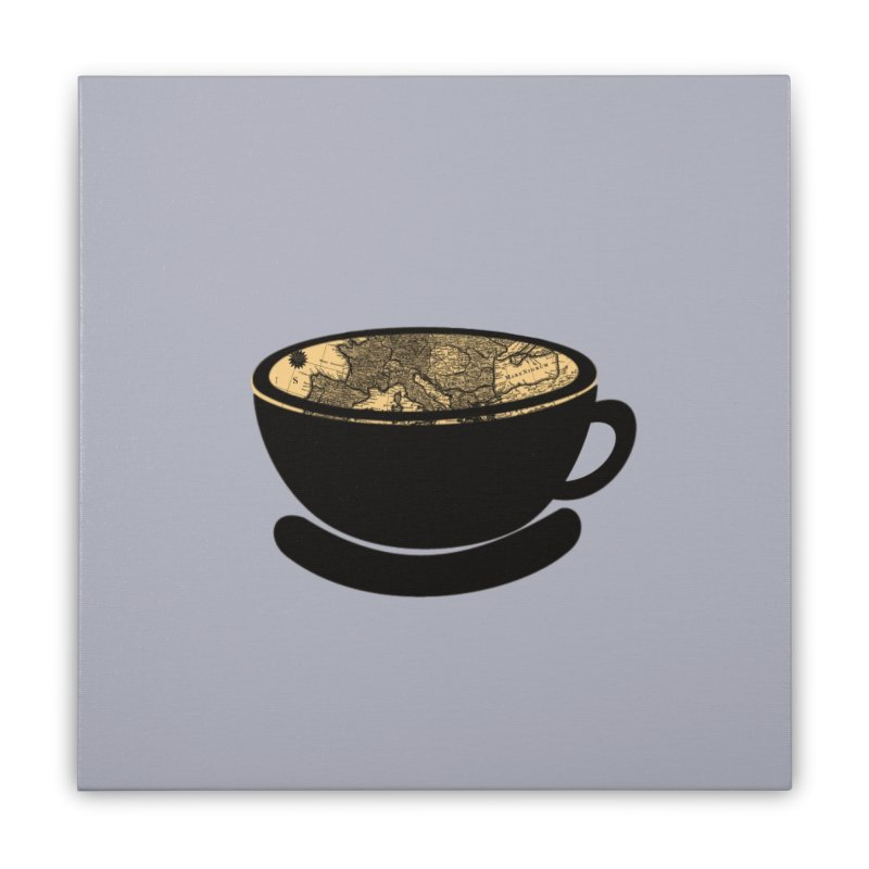 CUP OF WORLD Home Stretched Canvas by gasponce