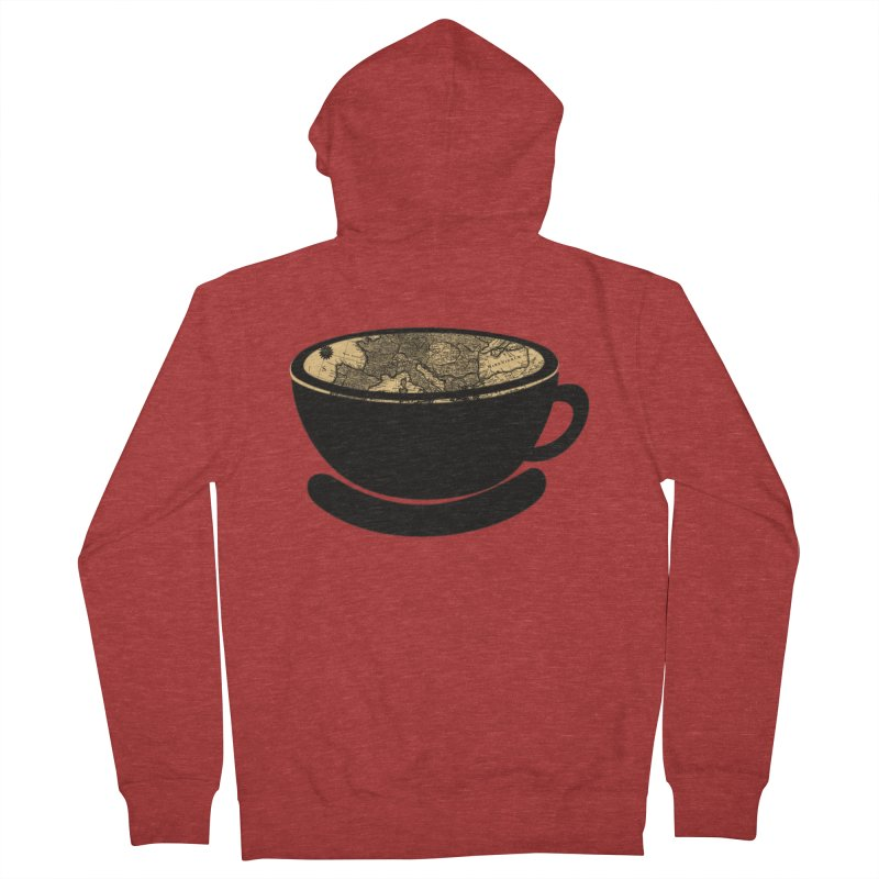 CUP OF WORLD Men's French Terry Zip-Up Hoody by gasponce