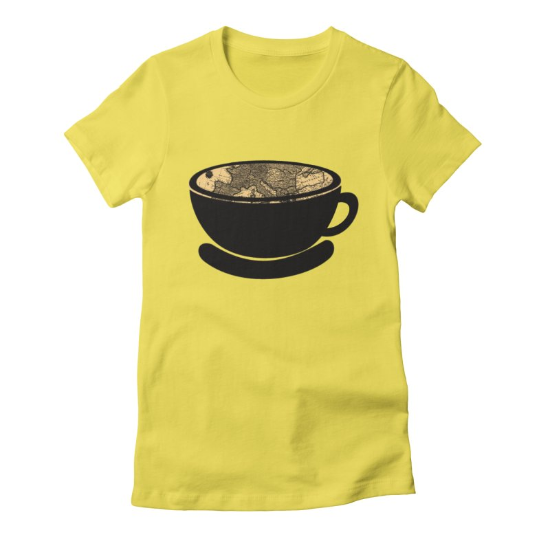 CUP OF WORLD Women's Fitted T-Shirt by gasponce