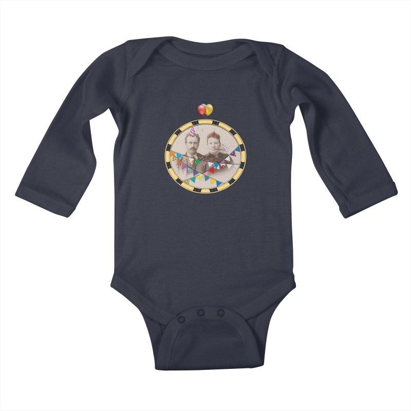 PARTY ! Kids Baby Longsleeve Bodysuit by gasponce
