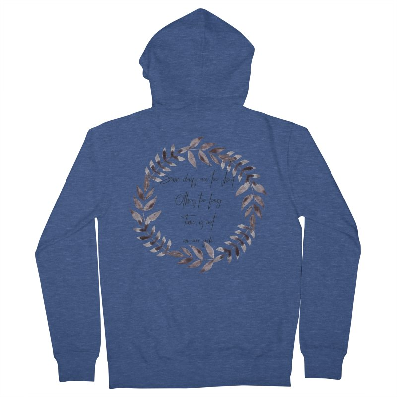 Time Men's French Terry Zip-Up Hoody by gasponce