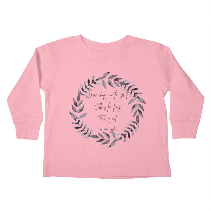 Time Kids Toddler Longsleeve T-Shirt by gasponce
