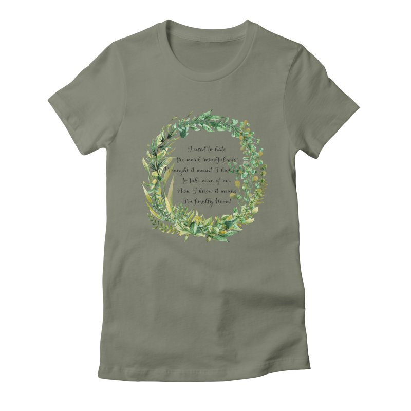 Body & Mind Women's Fitted T-Shirt by gasponce