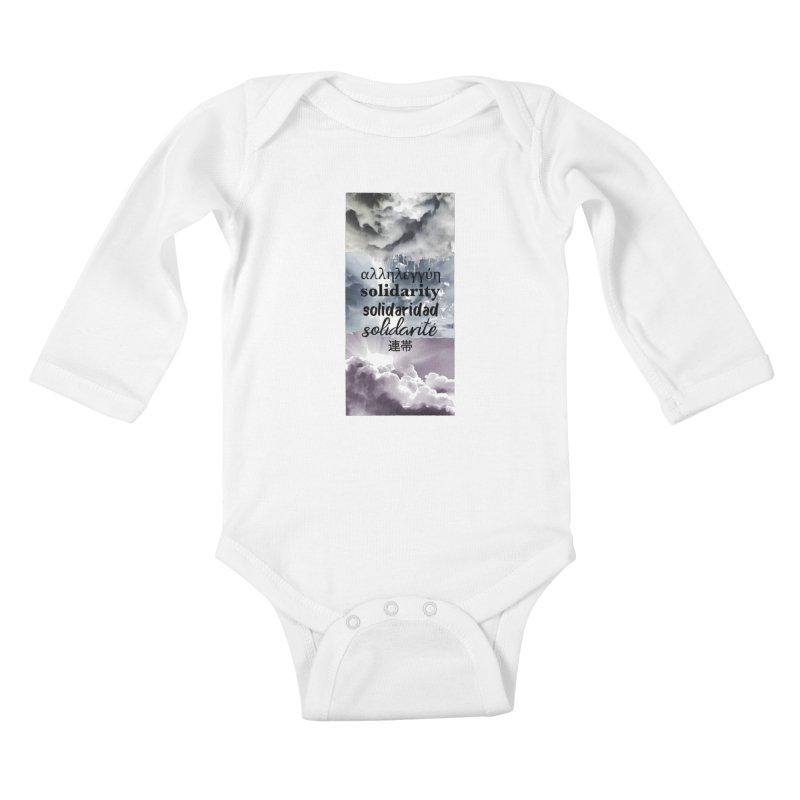 SOLIDARITY Kids Baby Longsleeve Bodysuit by gasponce