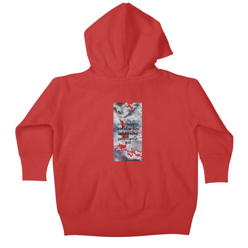 SOLIDARITY Kids Baby Zip-Up Hoody by gasponce
