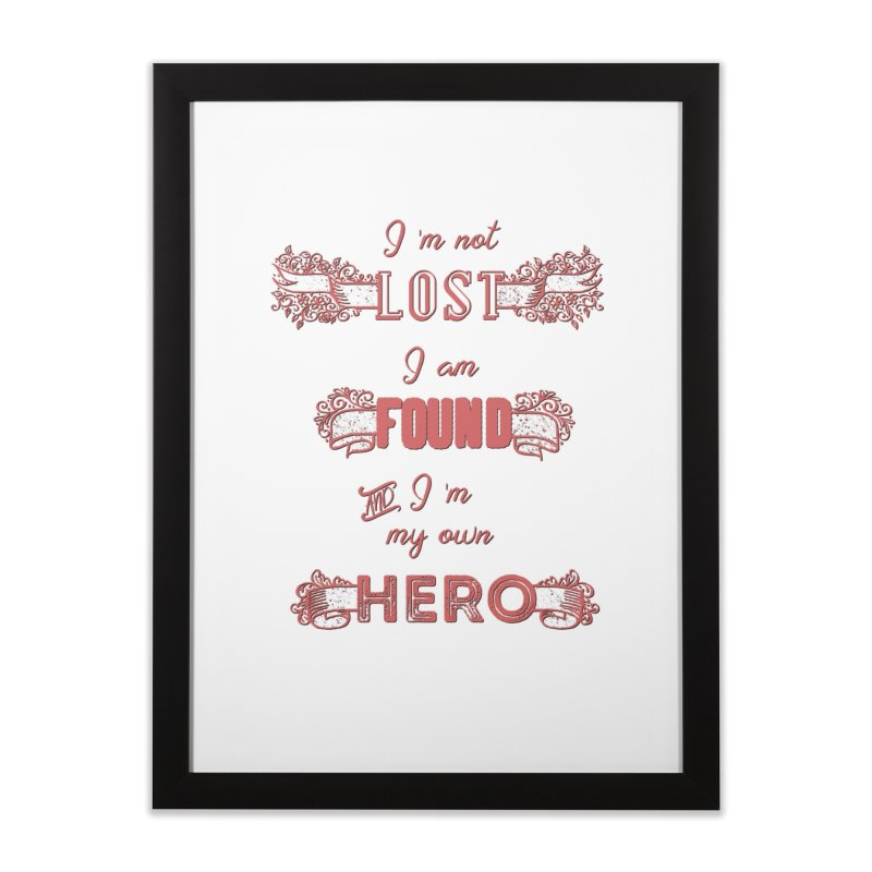 HERO Home Framed Fine Art Print by gasponce