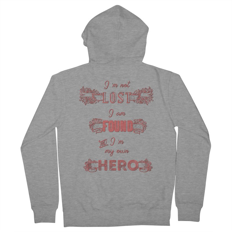 HERO Men's French Terry Zip-Up Hoody by gasponce