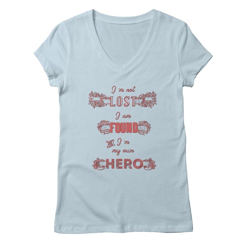 HERO Women's V-Neck by gasponce