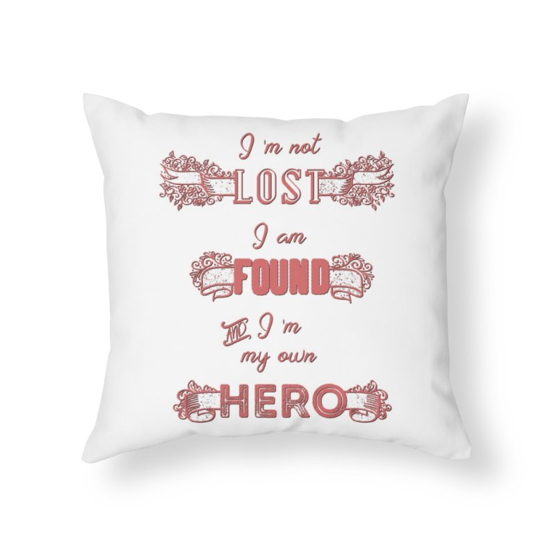 HERO Home Throw Pillow by gasponce