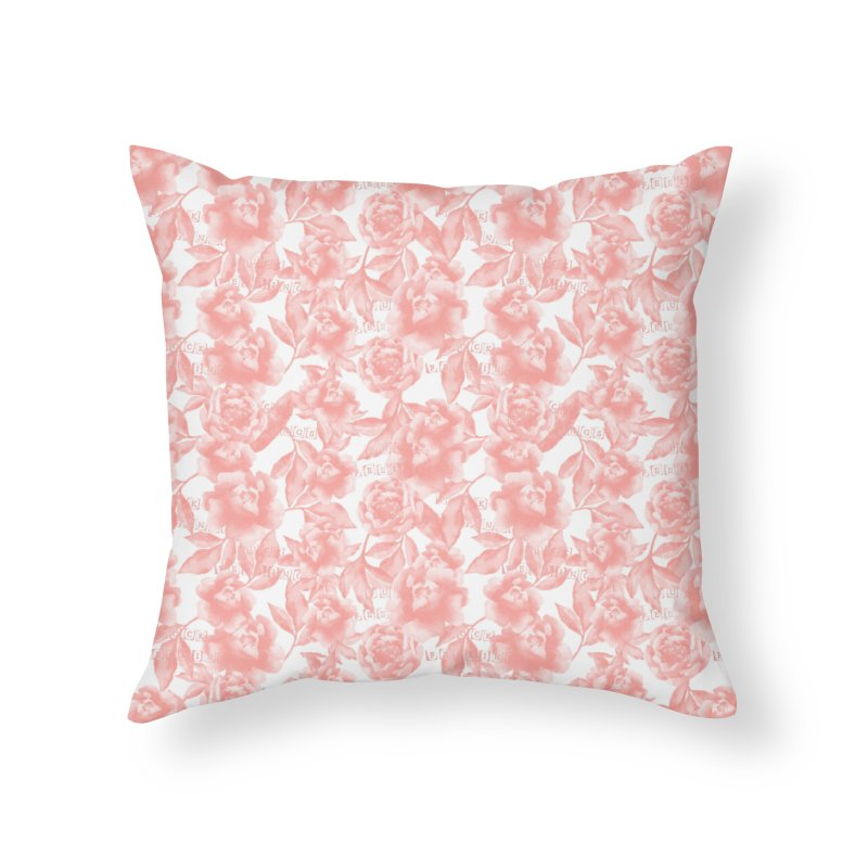 F*CK FEELINGS! CORAL Home Throw Pillow by gasponce