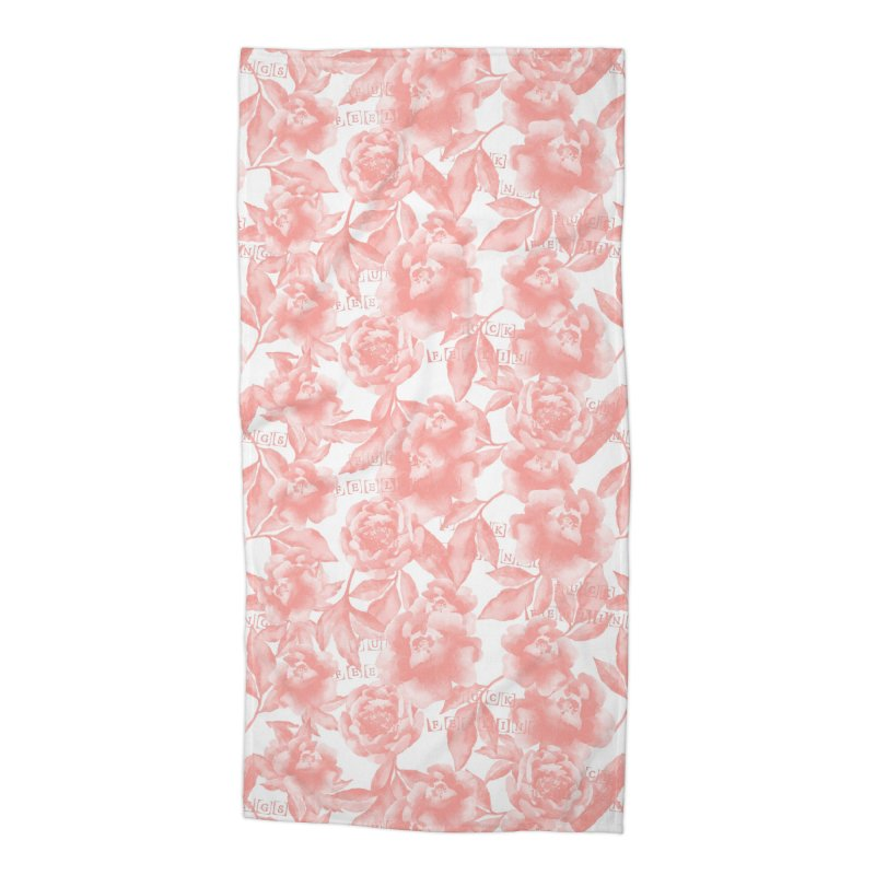 F*CK FEELINGS! CORAL Accessories Beach Towel by gasponce